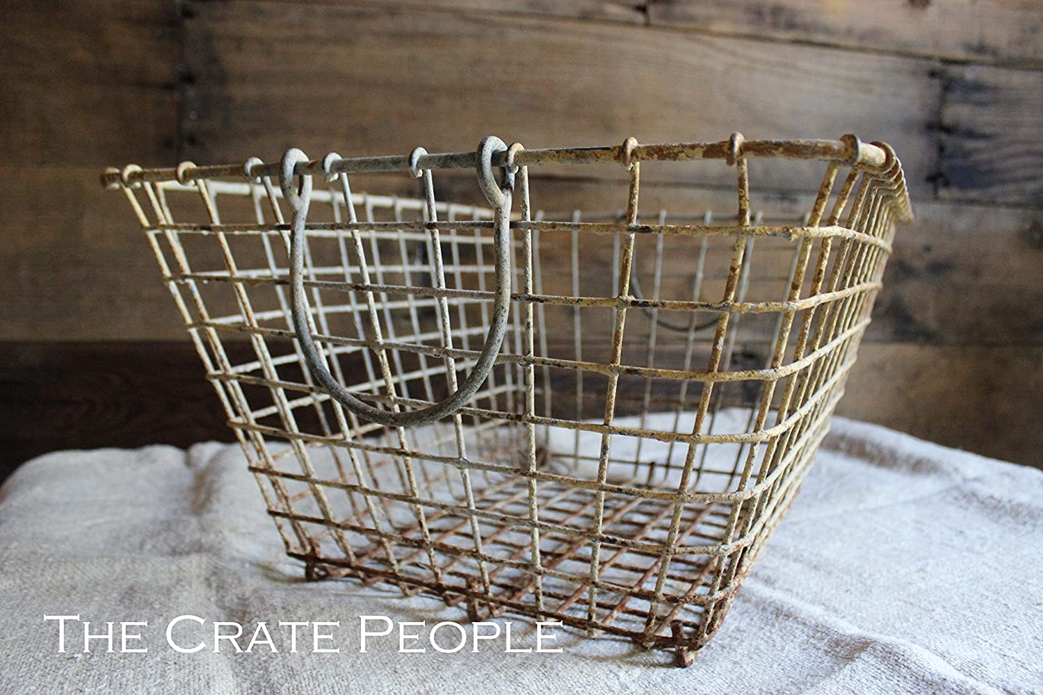 Weathered Wire French Oyster Basket