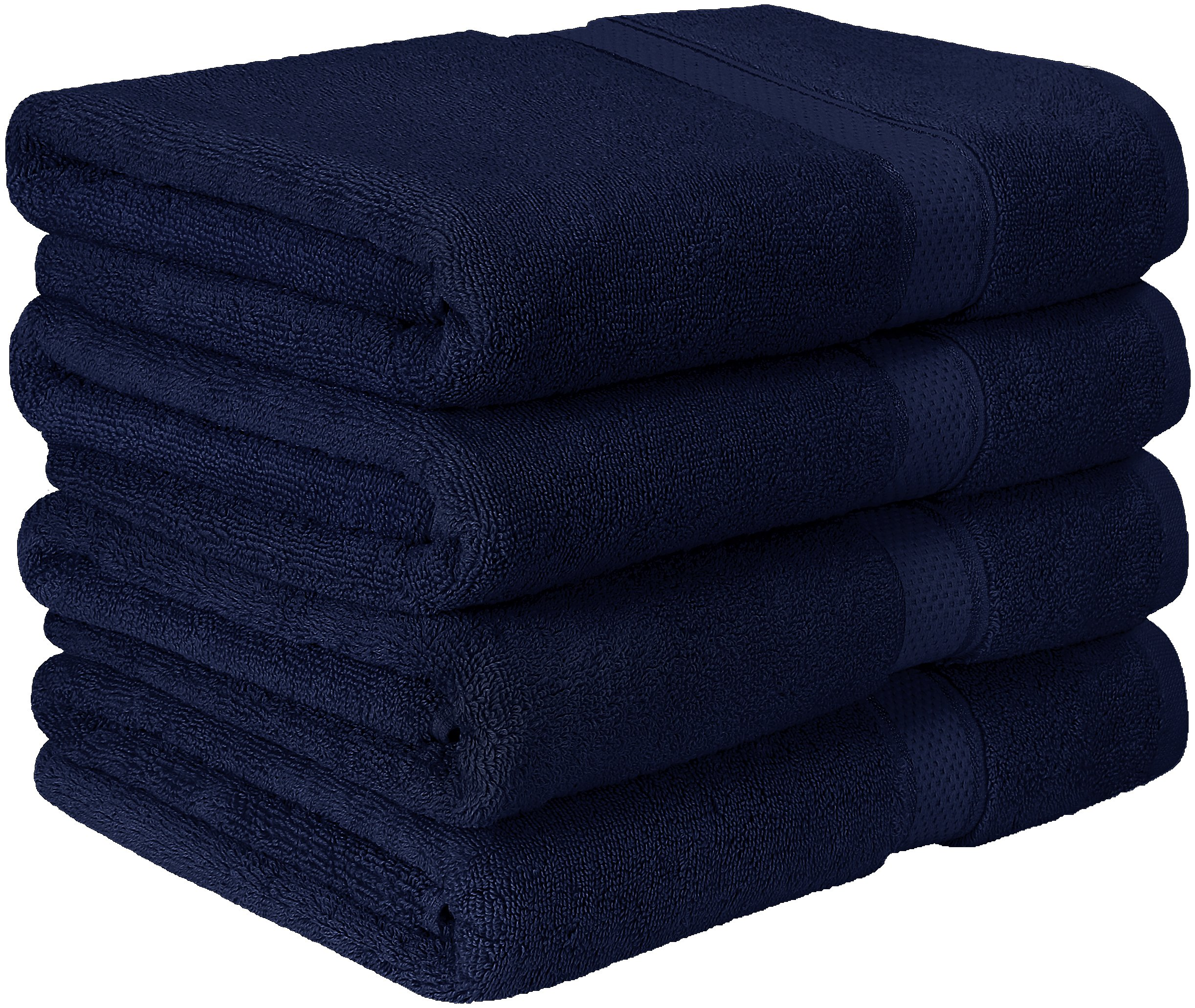 Utopia Towels Premium Bath Towel Set (Pack of 4, 27 x 54 Inches) 100% Ring-Spun Cotton Towels for Hotel and Spa - Maximum Softness and Highly Absorbent (Navy Blue)