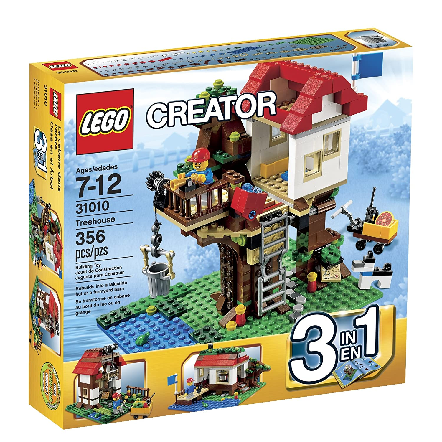 LEGO Tree House Building Toys Blocks Kids 356 Piece Gift Boys