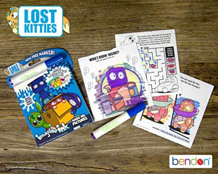 Amazon Com Bendon 44924 Lost Kitties Imagine Ink Magic Ink Pictures Toys Games