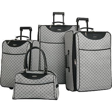 Amazon.com | Pierre Cardin Signature 4 Piece Luggage Set, Grey ...