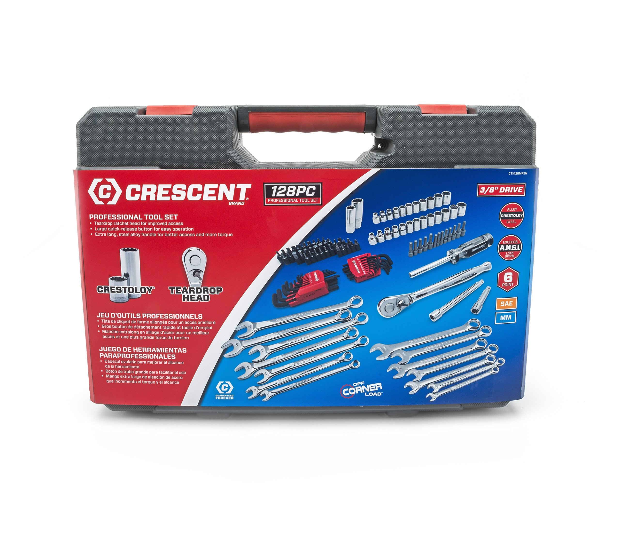 Crescent CTK128MP2N Mechanics Tool Set (128 Piece) by Crescent (Image #3)
