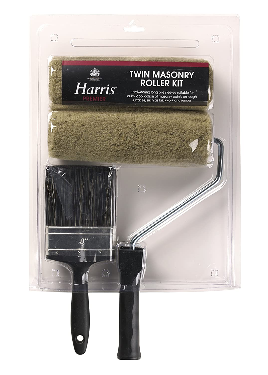 Harris 4291 9 x 1.75-Inch Masonry Roller Kit with 4-Inch Brush LG Harris