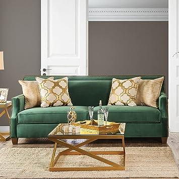 Exceptionnel Furniture Of America Katrina Contemporary Nailhead Microfiber Emerald Green  Sofa By