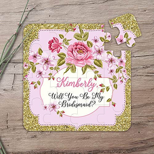 Maid of Honor Proposal Personalized Will You Be My Maid of Honor Puzzle Asking Maid of Honor