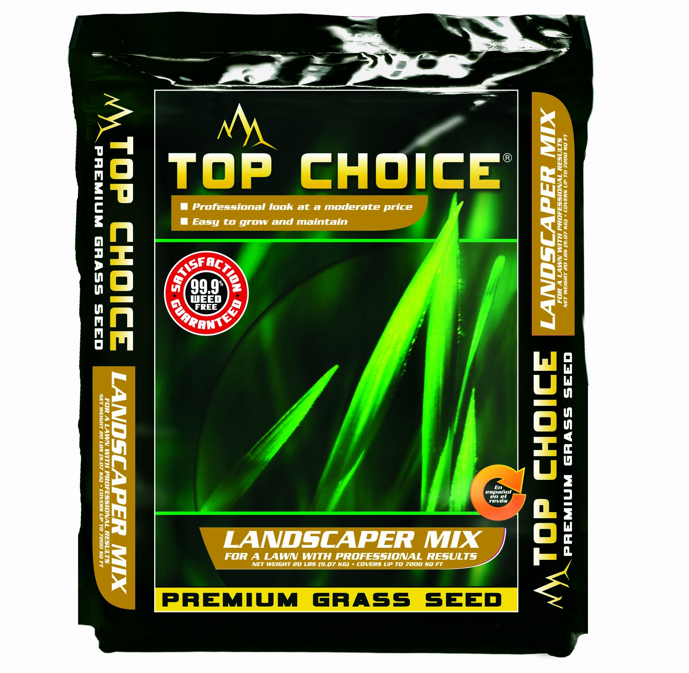 Top Choice 17624 3-Way Perennial Ryegrass Grass Seed Mixture, 20-Pound by TOPCHOICE (Image #1)