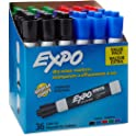 36-Count Expo Low-Odor Dry Erase Markers (Assorted Colors)