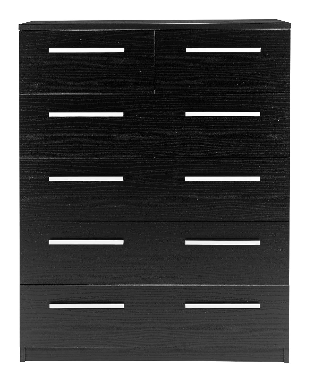 Furniture To Go Designer 2 Plus 4 Chest of Drawers, 112 x 85 x 40 cm, Black Designa Furniture 3000320