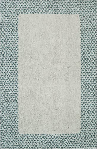 Mohawk Home Laguna Spotted Border Woven Rug, 8 x10 , Green
