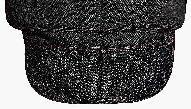 universelle Passform Isofix geeignet Autositzauflage f/ür Kindersitz von ZAROSO Premium 600D Royal-Oxford-Material in Schwarz Auto-Kindersitzunterlage wasserabweisend Autositzschutz
