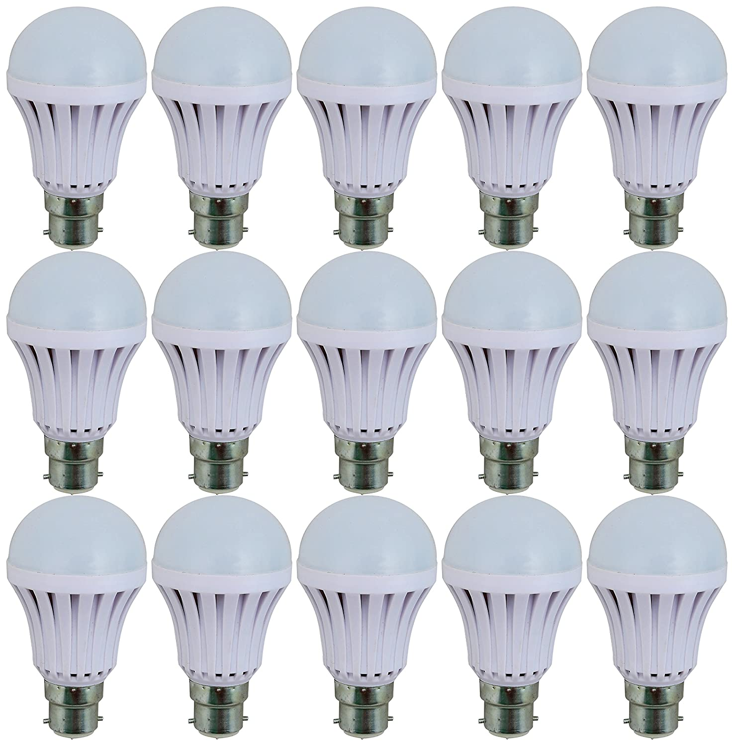 Imax Led 9W B22 LED Bulb (Pack of 15, Cool..