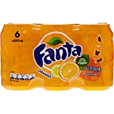 Fanta Orange Pack de 6 Canettes de 33 cl