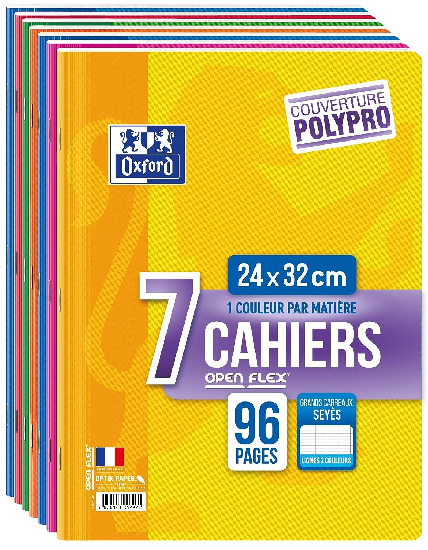 Oxford Openflex-Set di 7quaderni, 96pagine, 24x 32cm, colori assortiti Hamelin 400043978