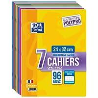 Oxford OpenFlex Lot de 7 Cahiers 96 pages Seyès 24 x 32 cm Couleurs Assortis