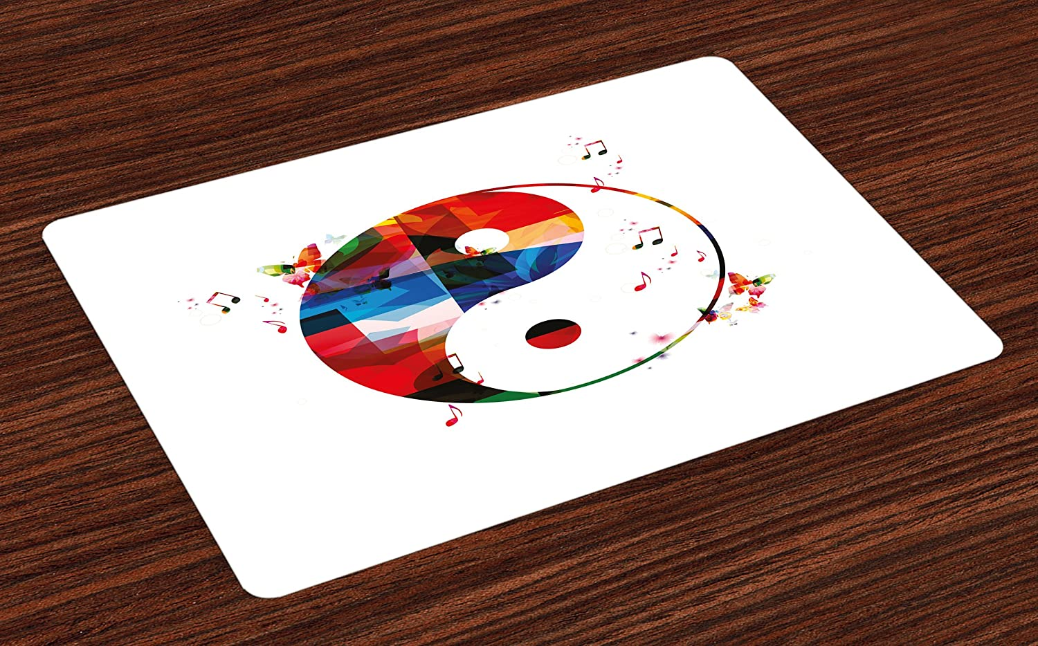 Ying Yang Bad : Amazon lunarable ying yang place mats set of yin yang