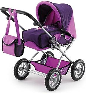 Knorrtoys 61888 Cochecito de paseo Kyra para muñecas con diseño rosa de mariposas y altura ajustable (a partir de 3 años)
