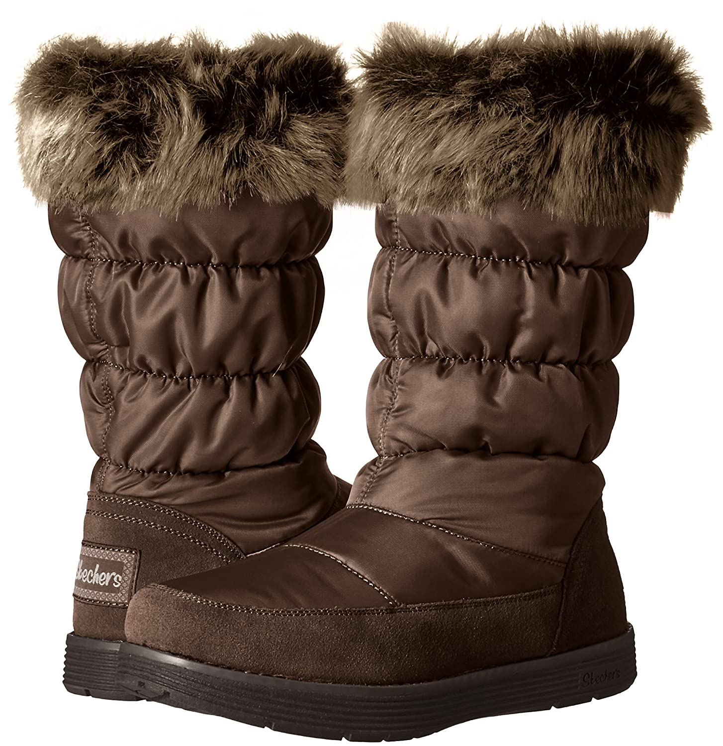 Skechers Boot Women's Adorbs-Nylon Quilted Snow Boot Skechers B01CH512PM 6.5 B(M) US|Chocolate 20285e