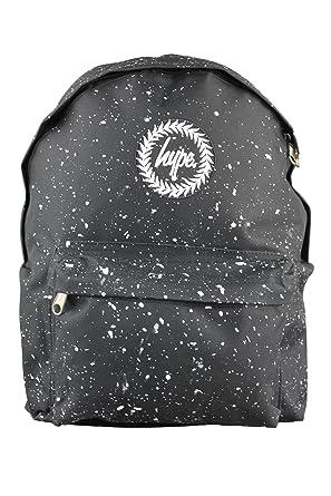 29261ed1e4 HYPE JUST HYPE Black White Speckle Backpack Rucksack Bag  Amazon.co.uk   Clothing