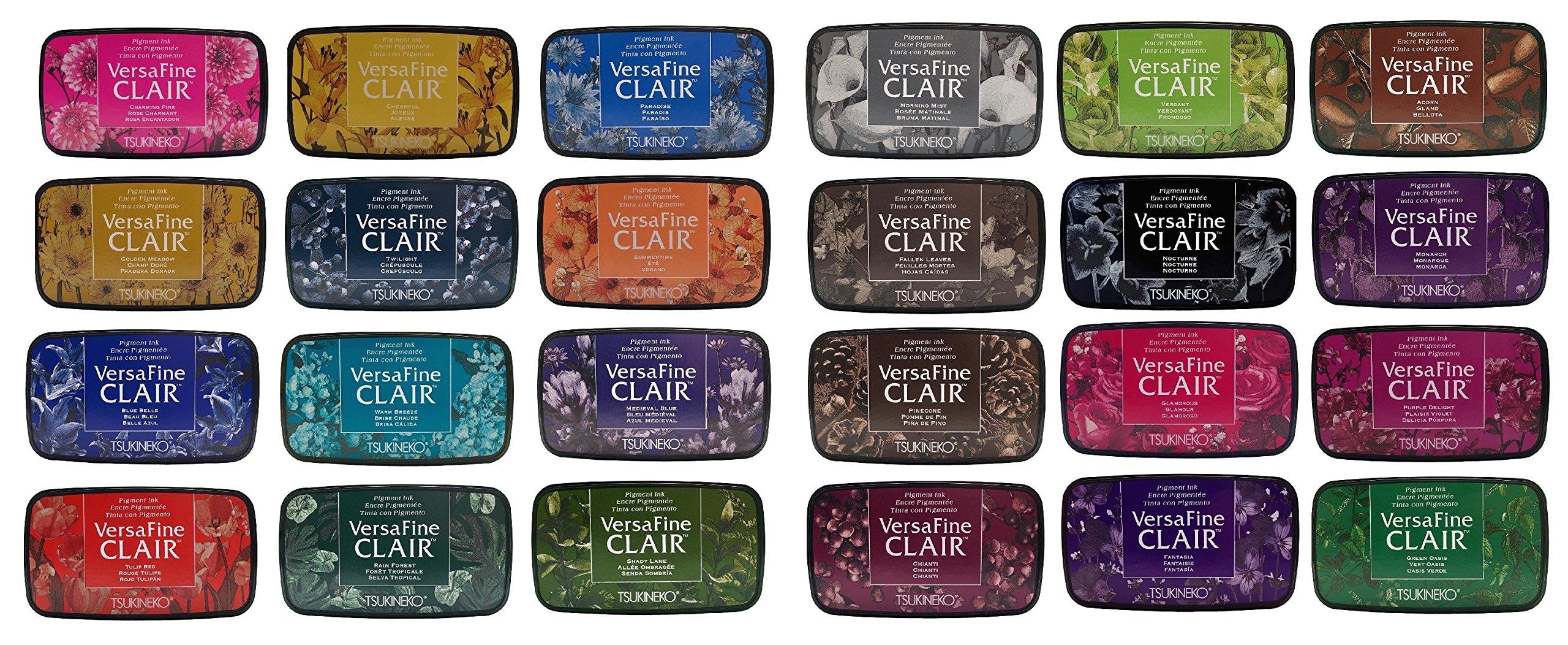 Versafine Clair Ink - Bundle of 24 Pads, 24 Gorgeous Colors