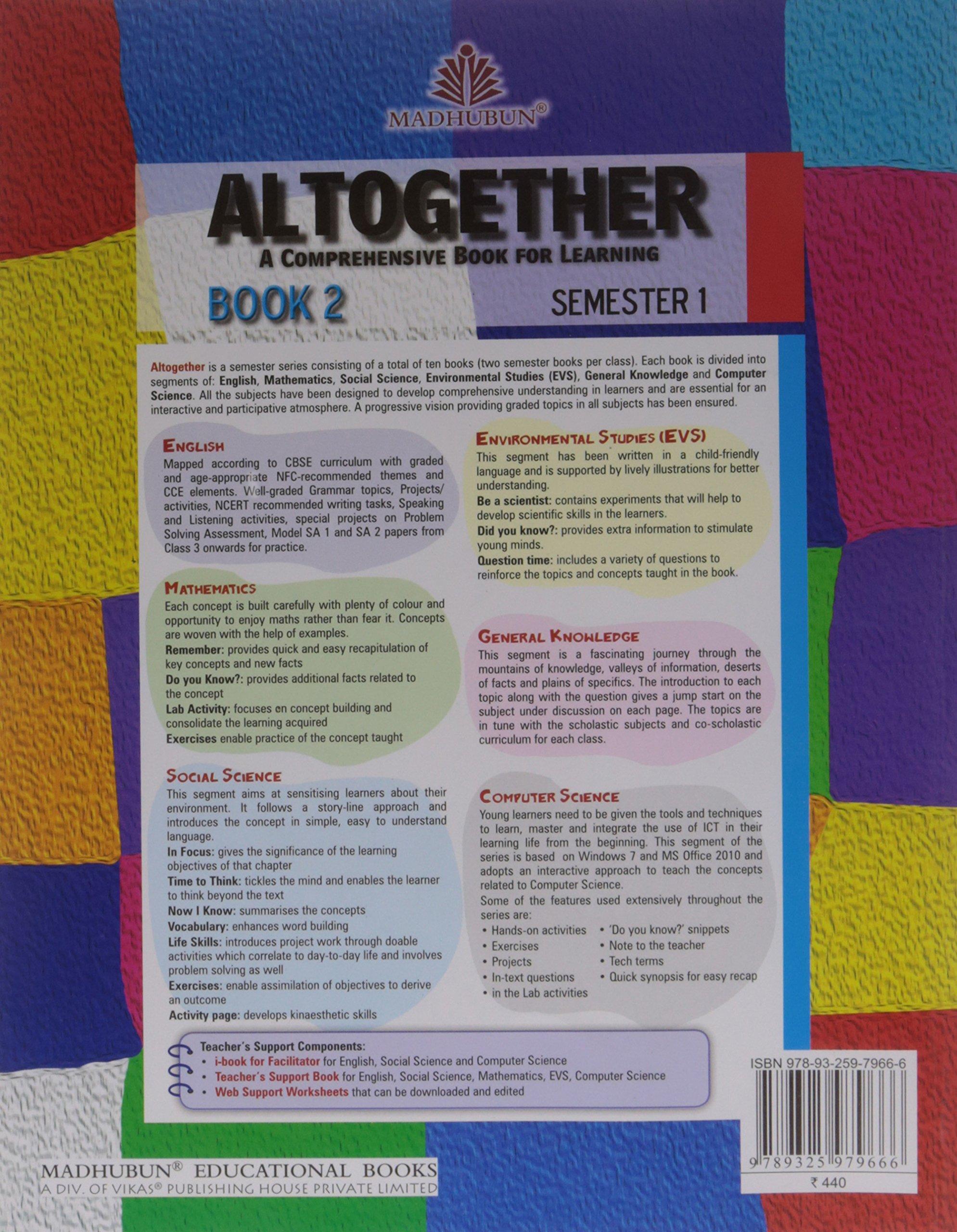 Altogether Semester Book Class 5 - Semester 1: Amazon in: Madhubun