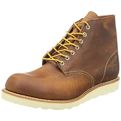 """Red Wing Men's 9111 6"""" Classic Round Boot, Copper Rough & Tough, 9.5 D US 