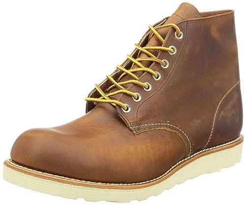 """Red Wing Shoes 6"""" Classic Round - Mocasines de cuero para hombre, color marrón"""
