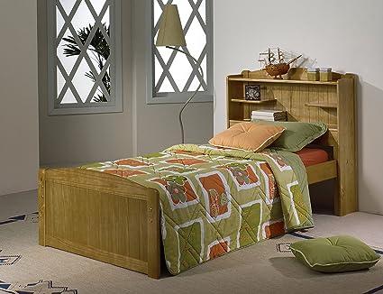 3 0 librería cama en madera de pino con resorte colchón FLEX