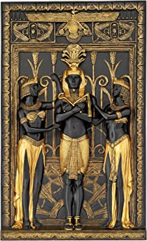 Design Toscano 16 x 9.5 Inch The Egyptian Pharaoh Wall Sculpture