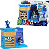 PJ Masks Nighttime Micros Trap & Escape Playset, Catboy vs Romeo, Multicolor