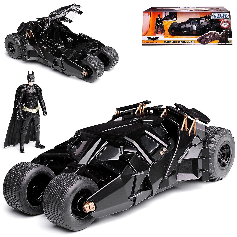 alles-meine GmbH Batmobile und Batman The Dark Knight mit Figur 1/24 Jada Modell Auto mit individiuellem Wunschkennzeichen Jada Jadatoys Jada toys Batman Batmobile The Dark Knight Modellcarsonline alles-meine.de GmbH