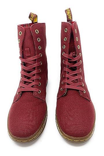 e4be0cadb85b Dr. Martens Women s Cherry Red Stratford 9 Eye Boot 5 F(M) UK