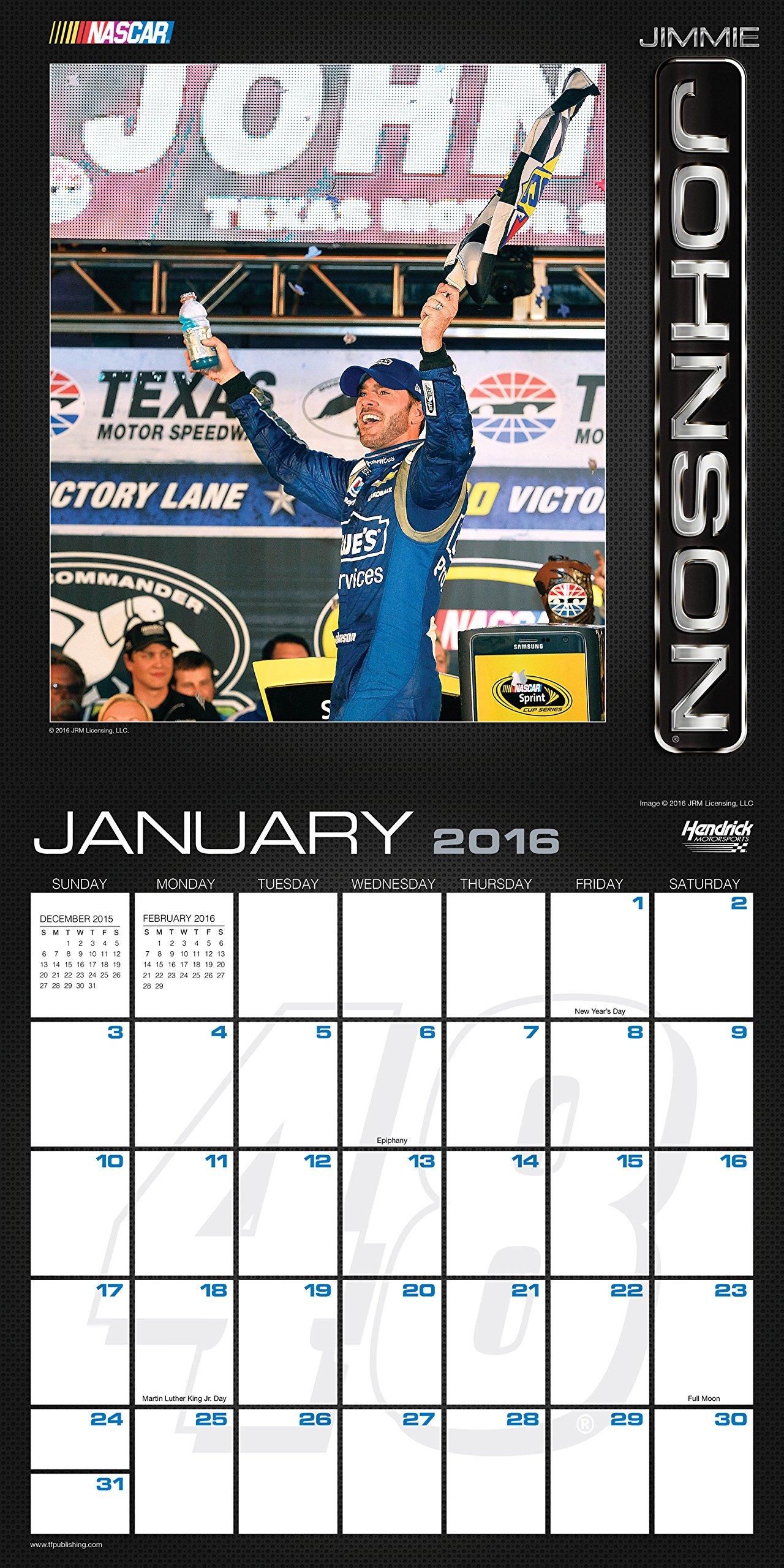 2016 Stars of NASCAR Wall Calendar: Nascar: 9781624381546: Amazon.com: Books