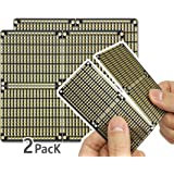 ElectroCookie PCB Prototype Board, Snappable Strip Board with Power Rails for Arduino and DIY Electronics, Gold-Plated…
