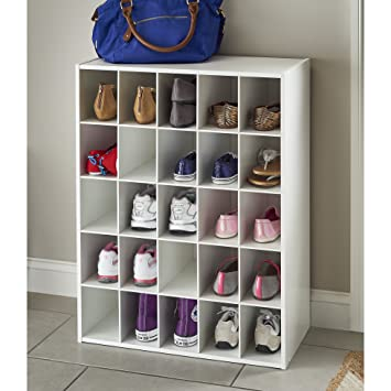 Genial ClosetMaid Stackable Storage Organizer 25 Compartment Shoe Rack