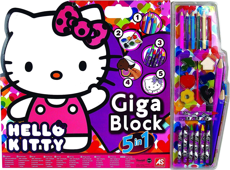 Hello Kitty 1023 62684 Set De Coloriage Giga Block 5 En 1 Amazon Fr Jeux Et Jouets