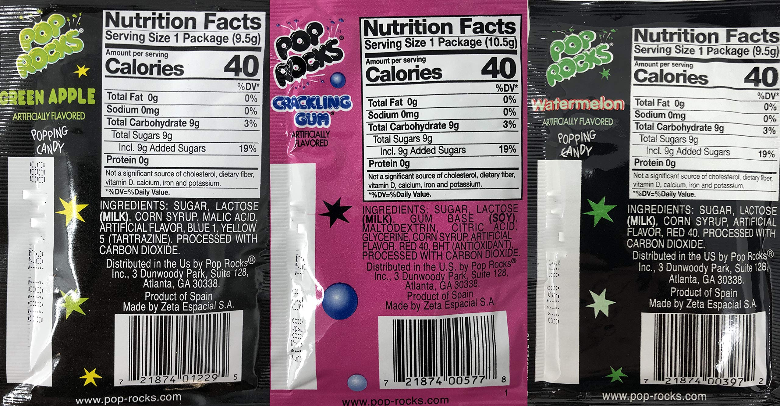 Pop Rocks Crackling Candy Variety Pack of 72 - Classic Popping Candy - Nine Different Flavors Bulk Pop Rocks Pack with Tru Inertia Kazoo by Tru Inertia (Image #3)