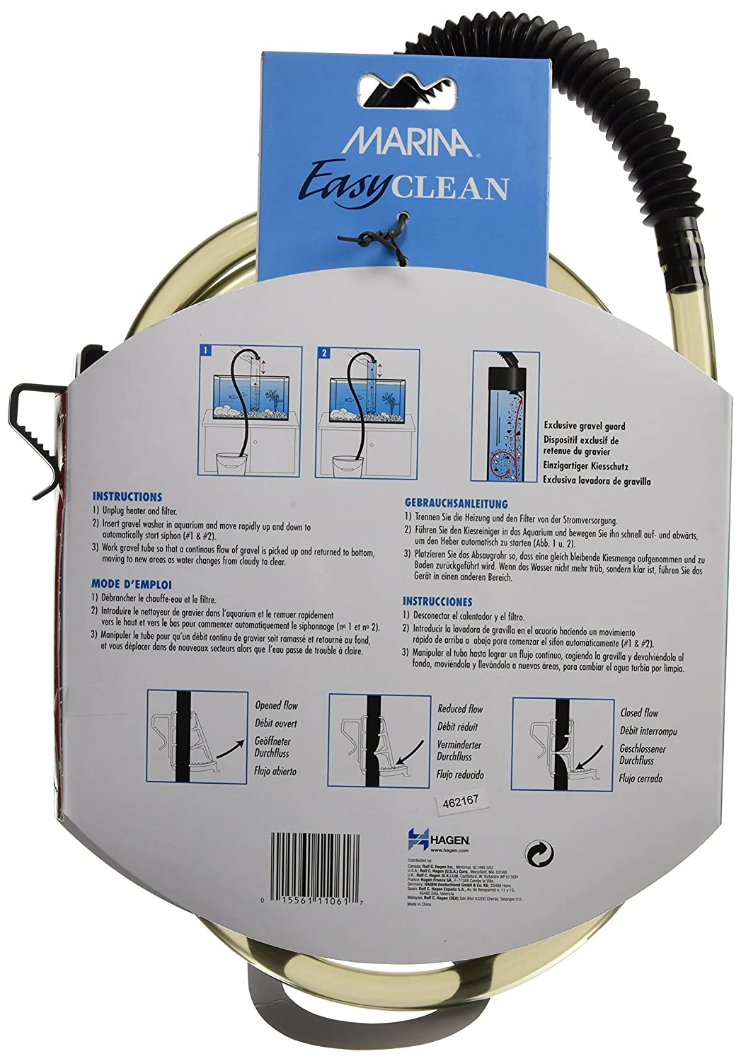 Amazon.com : Marina Easy Clean Gravel Cleaner, Mini : Aquarium Gravel Cleaners : Pet Supplies