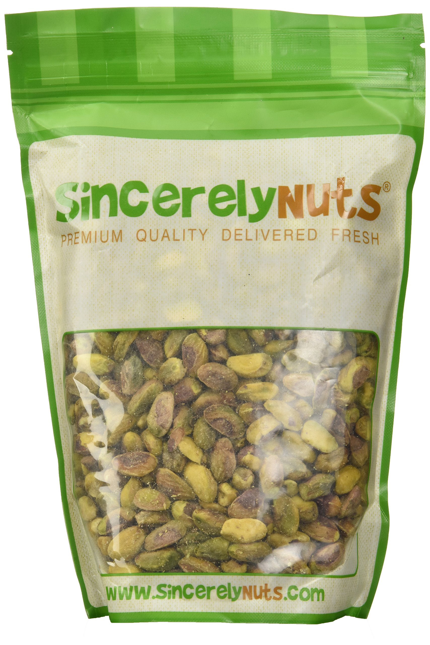 Sincerely Nuts Pistachios Roasted & Unsalted Kernels (No Shell) - One Lb. Bag - Irresistibly Delish and Crunchy - Bursting with Antioxidants - Kosher