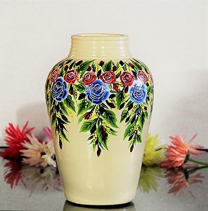 13 Inches Handmade Terracotta Home Decorative Flower Vase Flower
