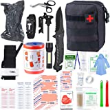 """SUPOLOGY Emergency Survival First Aid Kit, 135-In-1 Trauma Kit with Tourniquet 36"""" Splint, Military Combat Tactical IFAK EMT for First Aid Response, Disaster Home Outdoor Camping Emergency Kit"""