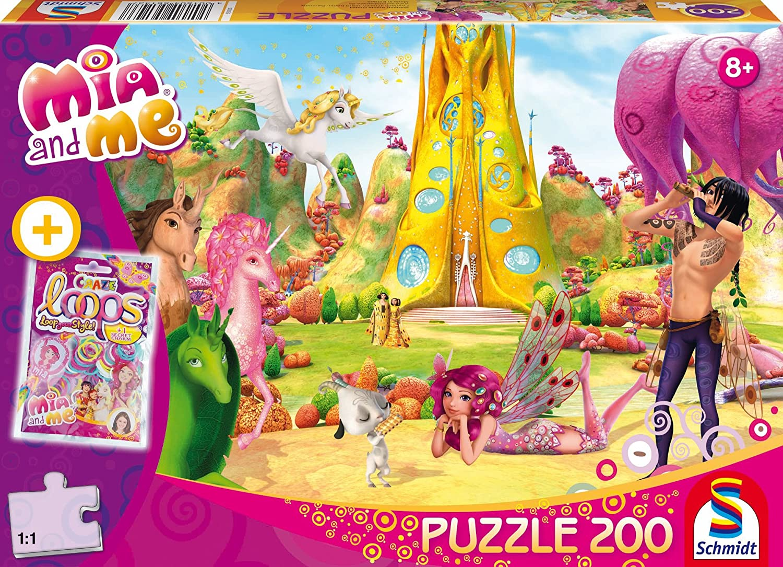 Mia im Elfenpalast Glitzerpuzzle Spiel Mia and me 200 Teile Deutsch Mia and Me