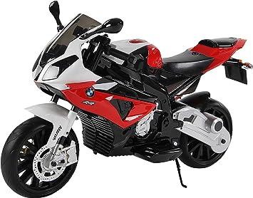 BMW Bicicleta de bolsillo para niños 1000 RR, 12 V, color rojo ...