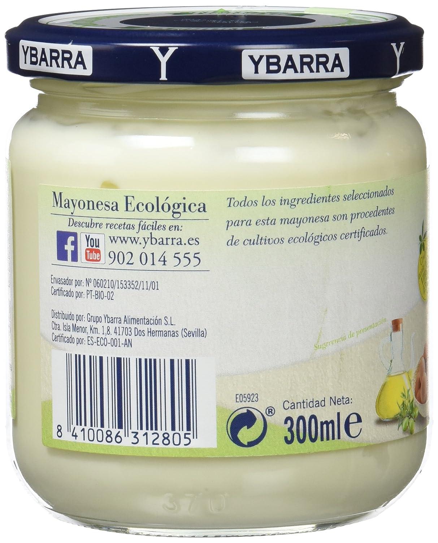 Ybarra Mayonesa Ecológica - Paquete de 12 x 300 ml - Total: 3600 ml: Amazon.es: Alimentación y bebidas