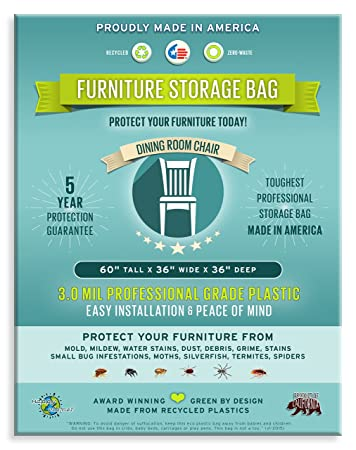 Amazon.com: Furniture Storage Bags-Dining Room Chair. 3 Mil Thick ...