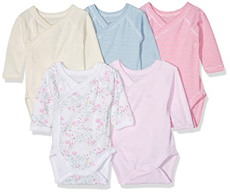 7181ecc10eaec Petit Bateau LOT 5P Body N.ML Body Bébé Fille Multicolore (Special Lot 00
