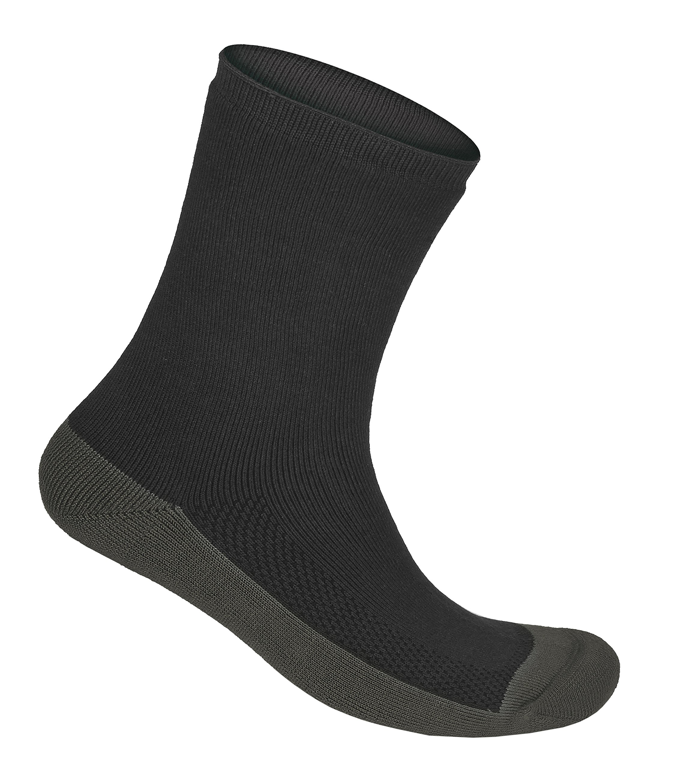 Orthofeet Extra Roomy Non-Binding Non-Constrictive Circulation Seam Free Bamboo Socks Charcoal, 3 Pack Large