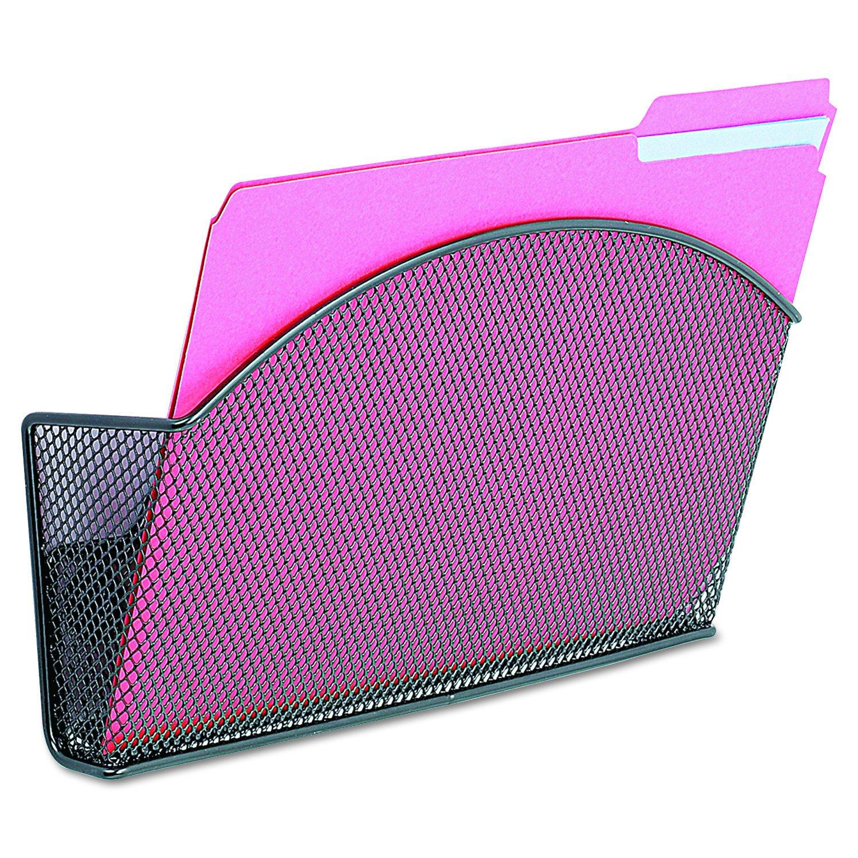 Safco Model Magnetic Mesh Single File Pocket, Black Onyx, 1 Count (4176) Safco Products 4176BL DOBA-SAF4176BL