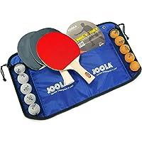 JOOLA Family zestaw do tenisa stołowego, 4 rakiety do tenisa stołowego + 10 piłek do tenisa stołowego + torba