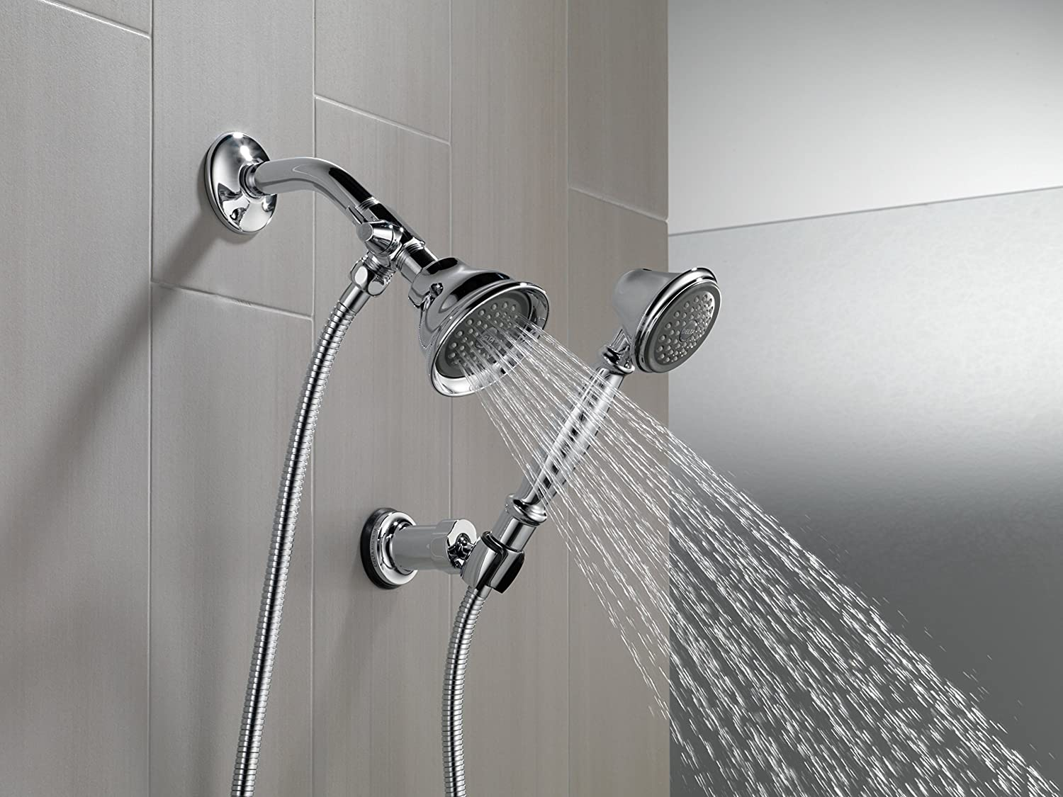 p in brushed push diverter nickel pull shower arm danze