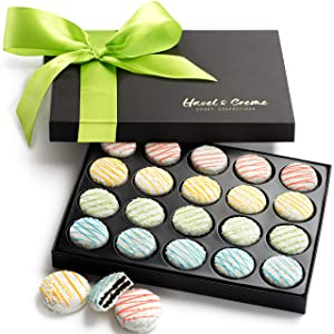 Hazel & Creme White Chocolate Gift Box - Easter Cookies - Chocolate Covered Cookies - Gourmet Birthday Food Gift Box